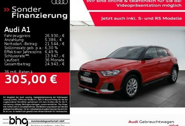 Audi A1 30 TFSI citycarver S tronic as Saloon in R